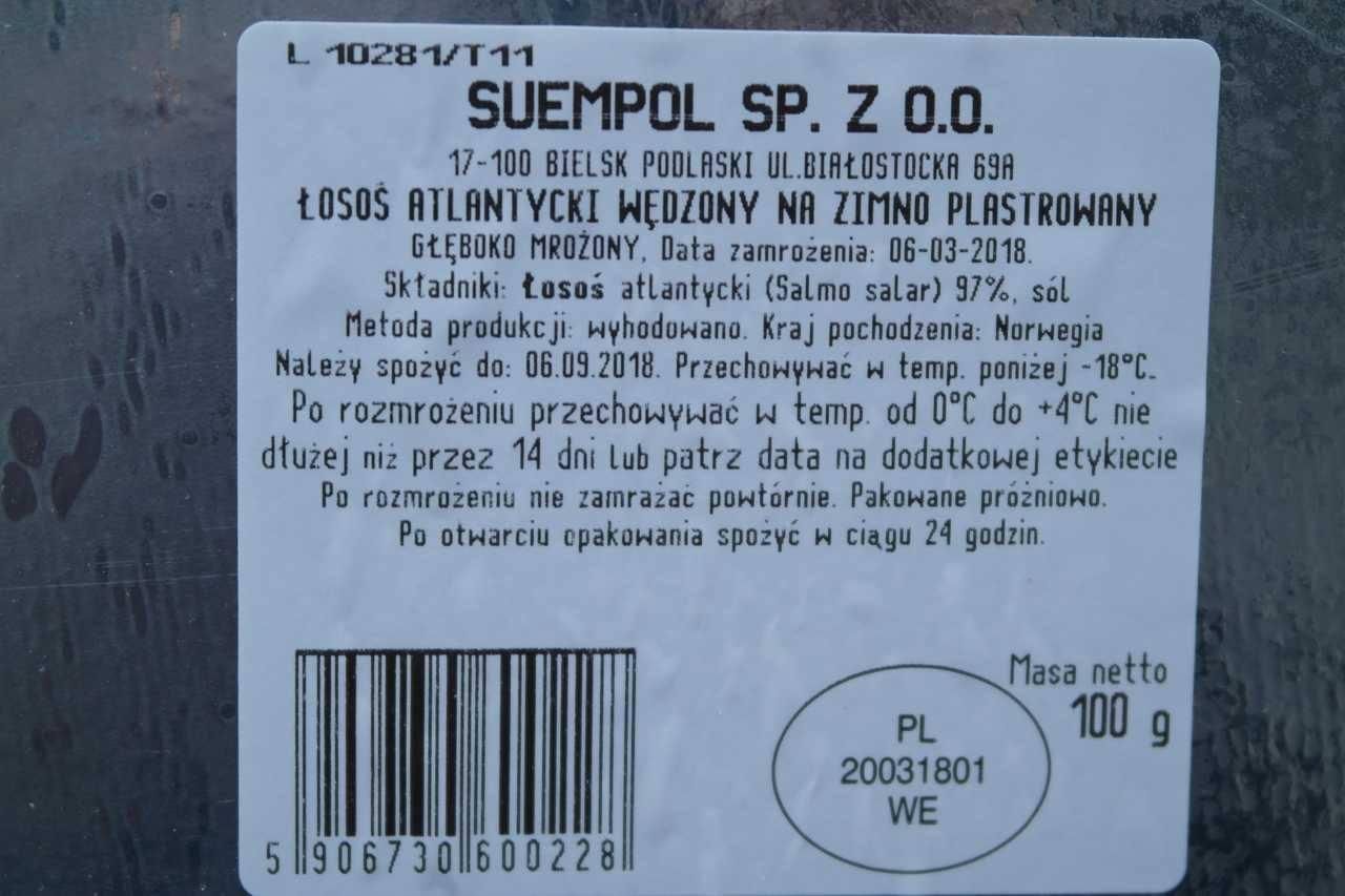 ŁOSOŚ PLASTERKI 100gr